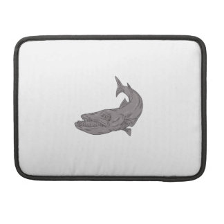 Barracuda Swimming Down Drawing Sleeve For MacBooks