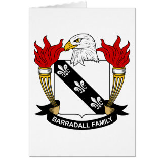 Barradall Family Crest Greeting Card