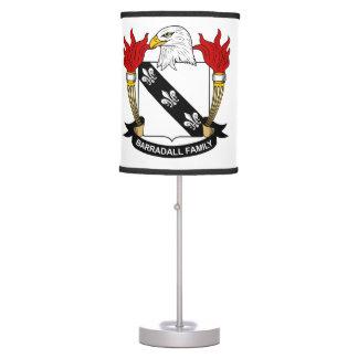 Barradall Family Crest Table Lamp