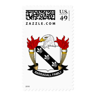 Barradall Family Crest Postage Stamp