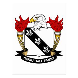Barradall Family Crest Postcard