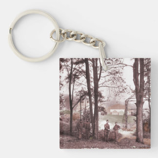 Barrage Balloon Factory France Single-Sided Square Acrylic Keychain