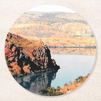 Barramundi Bay, Round Paper Coaster