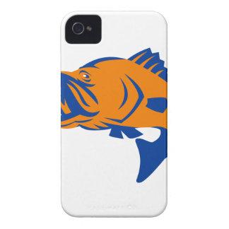 Barramundi Fish Jumping Retro iPhone 4 Case