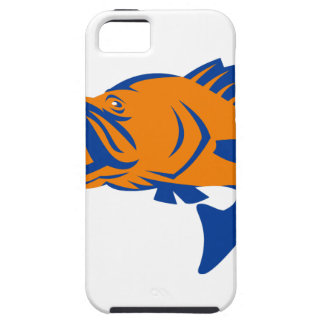 Barramundi Fish Jumping Retro iPhone SE/5/5s Case