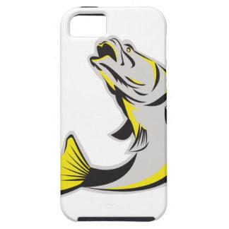 Barramundi Fish Jumping Up Isolated Retro iPhone SE/5/5s Case