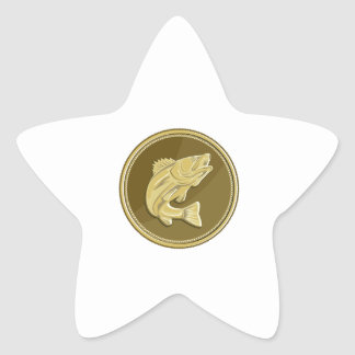 Barramundi Gold Coin Retro Star Sticker