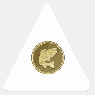 Barramundi Gold Coin Retro Triangle Sticker