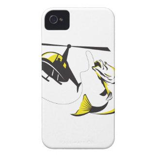 Barramundi Heli Fishing Retro iPhone 4 Cover