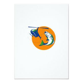 Barramundi Heli Fishing Sun Retro Card