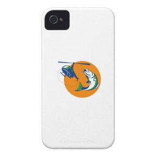 Barramundi Heli Fishing Sun Retro Case-Mate iPhone 4 Case
