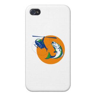 Barramundi Heli Fishing Sun Retro iPhone 4/4S Case