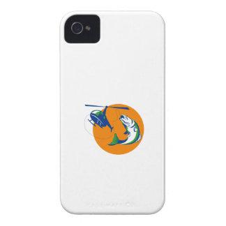 Barramundi Heli Fishing Sun Retro iPhone 4 Case