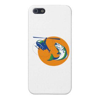 Barramundi Heli Fishing Sun Retro iPhone SE/5/5s Cover