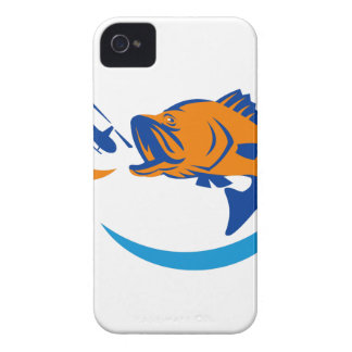 Barramundi Jumping Helicopter Retro Case-Mate iPhone 4 Cases