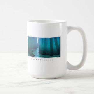 Barranco azul taza básica blanca