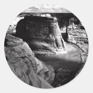 Barranco de Ansel Adams Arizona Pegatina Redonda