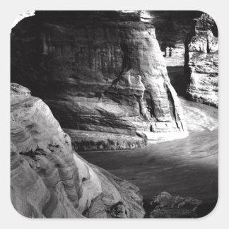 Barranco de Ansel Adams Arizona Pegatina Cuadrada