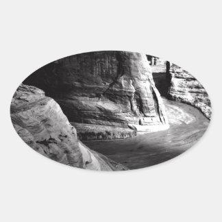 Barranco de Ansel Adams Arizona Pegatina Ovalada