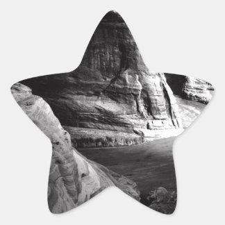 Barranco de Ansel Adams Arizona Pegatina En Forma De Estrella