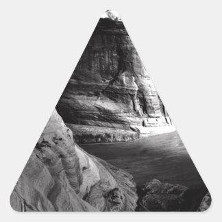 Barranco de Ansel Adams Arizona Pegatina Triangular