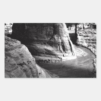 Barranco de Ansel Adams Arizona Pegatina Rectangular