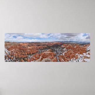 Barranco de Bryce: Impresión panorámica del punto  Poster