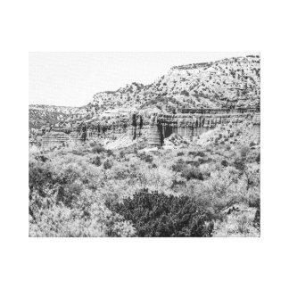 Barranco de Caprock Impresiones En Lona Estiradas