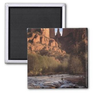 Barranco de la cala del roble, Sedona, Arizona Imán Cuadrado