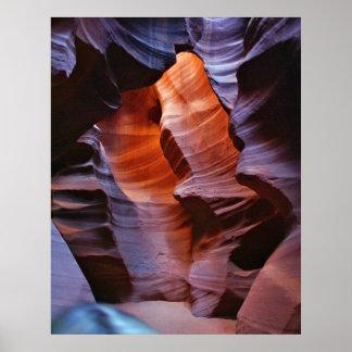 Barranco de la ranura de Arizona Poster