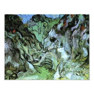 "Barranco de Van Gogh Les Peiroulets, bella arte Invitación 4.25"" X 5.5"""