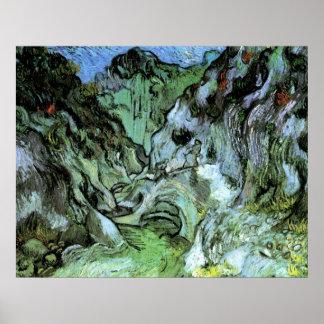 Barranco de Van Gogh Les Peiroulets, paisaje del Póster