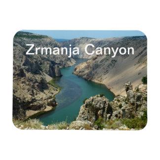 Barranco de Zrmanja, Dalmacia, Croacia Imán Foto Rectangular