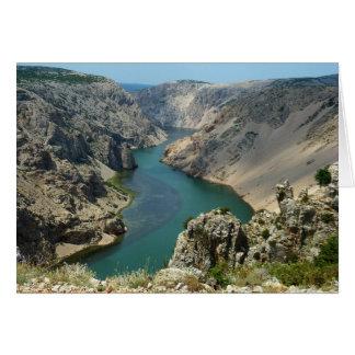Barranco de Zrmanja, Dalmacia, Croacia Tarjeta De Felicitación