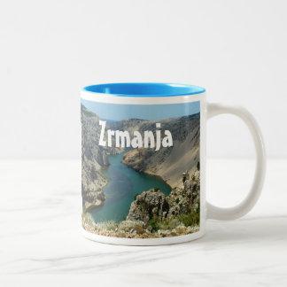 Barranco de Zrmanja, Dalmacia, Croacia Taza De Dos Tonos