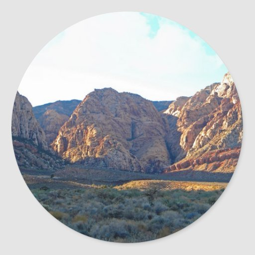 Barranco del desierto pegatina redonda