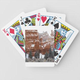 Barranco del frío del invierno de la naturaleza cartas de juego