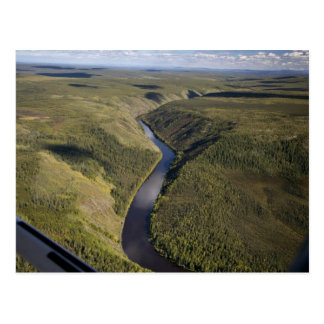 Barranco del río de Kanuti Tarjeta Postal