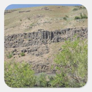 Barranco del río de Yakima Pegatina Cuadrada