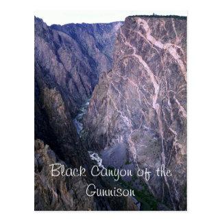 Barranco negro de la postal de Gunnison