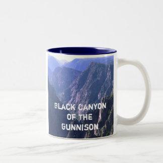 Barranco negro de la taza del parque nacional de