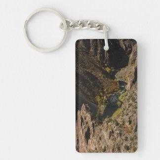 Barranco negro del Gunnison Llavero Rectangular Acrílico A Una Cara