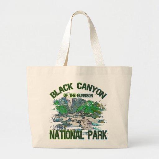 Barranco negro del parque nacional de Gunnison Bolsas De Mano