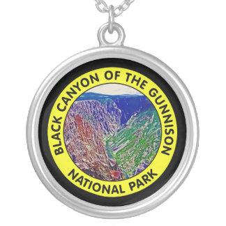 Barranco negro del parque nacional de Gunnison Colgante Redondo