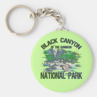 Barranco negro del parque nacional de Gunnison Llavero Redondo Tipo Pin