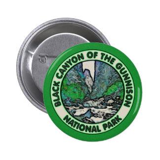 Barranco negro del parque nacional de Gunnison Pin Redondo De 2 Pulgadas