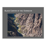 Barranco negro del parque nacional de Gunnison Tarjeta Postal