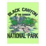Barranco negro del parque nacional de Gunnison Postales