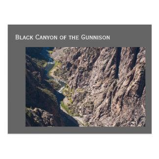 Barranco negro del parque nacional de Gunnison Tarjetas Postales