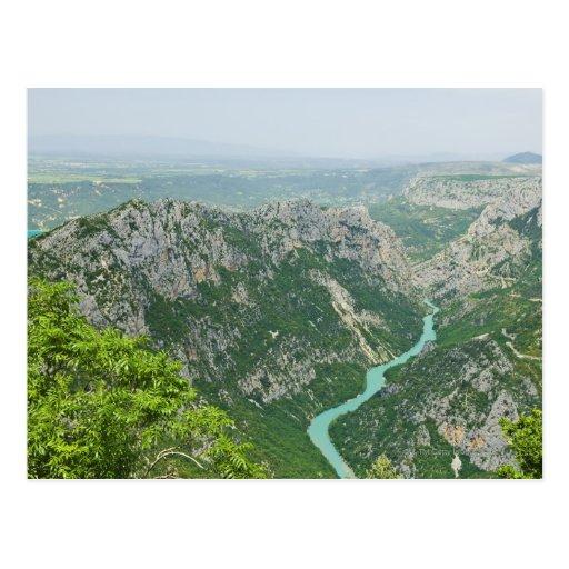 Barranco Provence Francia de Verdon Postales